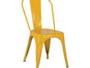 """Καρέκλα """"RELIX"""" από μέταλλο σε χρώμα κίτρινο 44x49x84"""