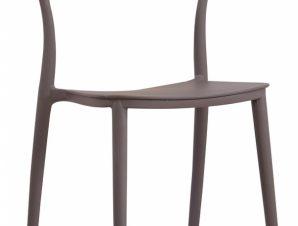 Καρέκλα πολυπροπυλενίου σε καφέ-κάμελ χρώμα 61x48x82