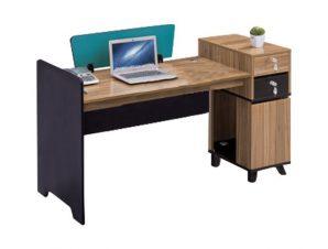 Γραφείο επαγγελματικό σε χρώμα γκρι/φυσικό 150x60x88